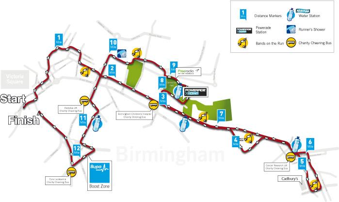 Bupa-Great-Birmingham-Run-2013-Course-Map-v3