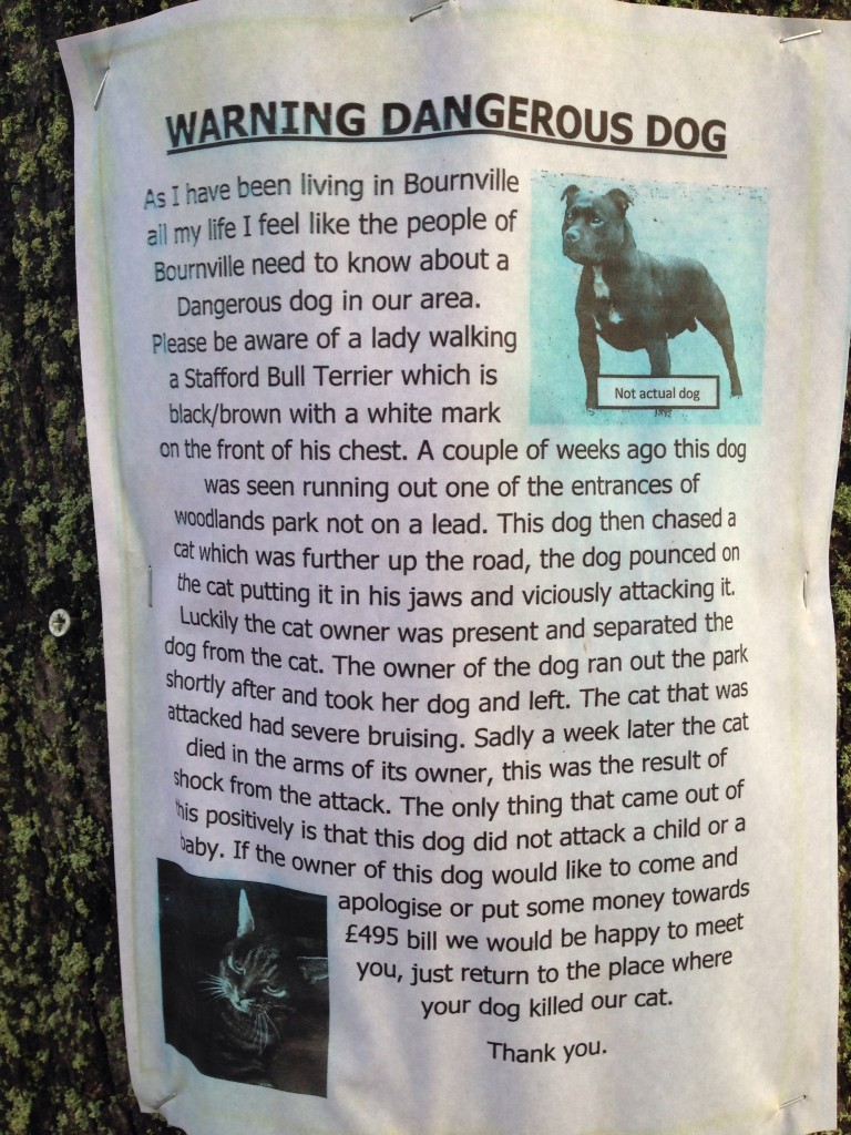 dog notice